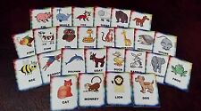 BABY -26  FIRST ANIMAL FLASH CARDS - FIRST LEARNING - VISUALLY EYECATCHING