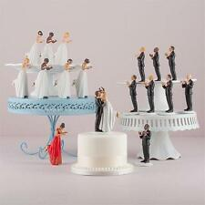 Mix & Match Hispanic Asian Bride Groom Porcelain Wedding Cake Toppers Figurine