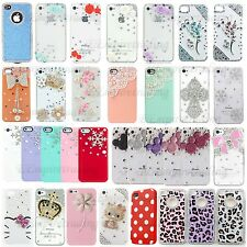 Pre holiday sale Cute 3D Bling Crystal Diamond Pearl Hard Case Cover For iPhone