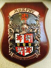 MURPHY Family Handpainted Coat of Arms Crest PLAQUE - 50.000 names available