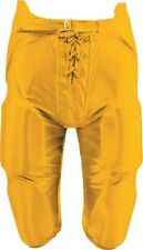 New Martin Adult Football Dazzle Game Pants w Integrated 7 Piece Pad Set Gold