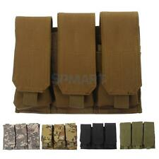 Outdoor 3 Pockets Molle Tactical Accessory Bag Magazine Pouch Hunting Waist Bag
