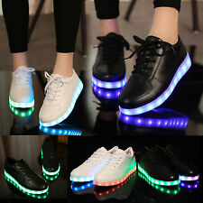 Fast Ship-Men Women LED Light Up USB Charger Casual Dancer Lovers Shoes Sneakers