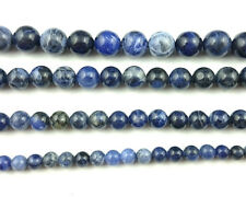 natural blue sodalite beads round loose gemstone beads 4mm 6mm 8mm 10mm 12mm