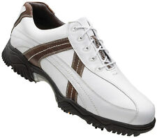 FootJoy Contour Golf Shoes White/Brown 54043 Closeout Mens New