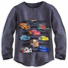 NWT Disney Store Boys CARS Long Sleeve Thermal Shirt ~ Lightning McQueen ~ Mater