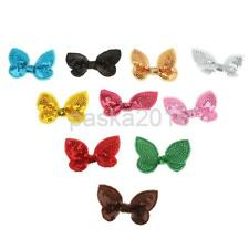 10pcs pick small Sequin Paillette embroider bow bowknot Sewing Appliques