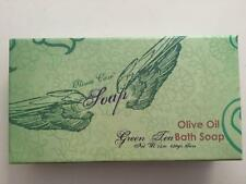 3 Bars Olivia Care Natural Olive Oil Bath Bar Soap Green Tea Boxed Set
