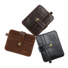 New Men's Faux Leather Money Clip Slim Wallet ID Credit Card Holder Purse Case