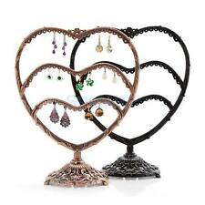 Jewelry Earring Heart Shape Wave Metal Stand Display Organizer Holder Show Rack