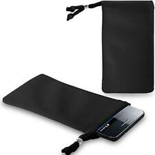 BLACK VELVET SOCKS CASE COVER SKIN WALLET POUCH FOR Mexwest Astro and Nokia 130