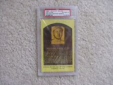 Ted Lyons Signed Autographed HOF Plaque Hall of Fame Postcard PSA/DNA