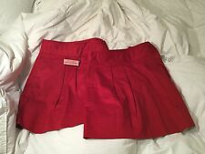 NWT VINEYARD VINES RALLY SKIRT RED SIZE ZIPPER POCKETS AND DETACHABLE BOW