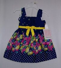 NWTS BONNIE BABY NAVY BUTTERFLY DRESS/PANTY 12, 24 MONTHS,DRESSY SUMMER NEW!