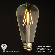 ST64 LED Edison Light Bulb - DIMMABLE - Filament LED - Bayonet or Screw Fitting