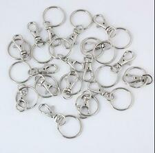 10/20 Bag Lobster Clips Finding Hooks Key Ring Swivel Charm Trigger Clasps Split