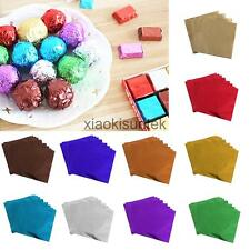 100x Candy Paper Packaging Foil Chocolate Wrapping Paper for Wedding Baby Shower