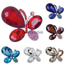 Fashion Crystal Rhinestone Butterfly Brooch Pin Jewelry Gifts