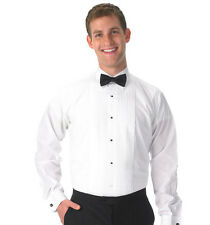 "New White Lay Down Collar 1/4"" Pleat Tuxedo Shirt Poly/Cotton by Henry Segal"