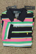Polo Ralph Lauren Short Sleeve Mesh Polo Shirt Multicolor Stripe New NWT