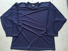 NAVY BLUE Authentic / Midweight BLANK Mens Boys League Hockey Practice Jersey