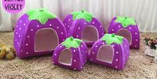 Bed Puppy House Pet Doggy Dog Cat Kennel Pad Warm Strawberry Soft Cushion