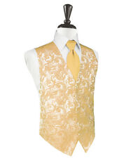 New Mens Apricot Tapestry Tuxedo Vest Bow Tie Set Formal Wedding Prom All Size