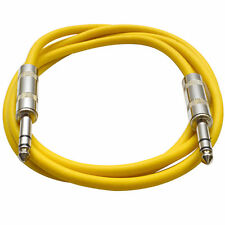 """SEISMIC AUDIO - Yellow 1/4"""" TRS 6' Patch Cable  Effects"""