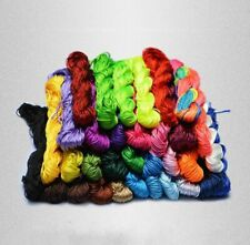 Chinese Knot Satin Nylon Braided Cord Macrame Beading Rattail Wire Cords 2mm