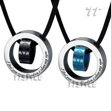 Quality TT Stainless Steel Love Pendant Necklace Two Colors Engravable (NP162)