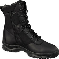 Black Forced Entry Side Zip 8 inch Tactical Boots