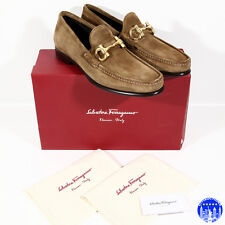 NIB SALVATORE FERRAGAMO MEN SHOES LOAFERS GANCIO BIT 8.5/41.5 9/42 10/43 EE WIDE