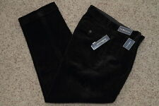Polo Ralph Lauren Classic Fit Pleated Corduroy Pants Mens' Black New NWT