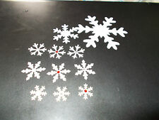 NEW SIZE ADDED!! VARIOUS SIZE/STYLE SNOWFLAKES with or without GEMS!