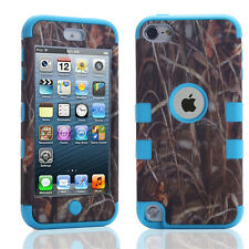 Hybrid Rugged Rubber Matte Hard Case Cover Skin for Apple iPod Touch 5 6 Gen