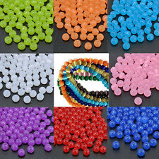Wholesale 100Pcs Round Cats Eye Loose Charms Beads Craft Jewelry Finding DIY 8mm