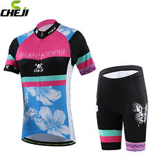 CHEJI Cycling Jersey Women Set Cycling Jersey And Bib Shorts Kit Clothing