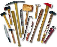 REALISTIC FOAM BLOODY WEAPONS TOOLS HALLOWEEN HORROR DECORATION PROPS CON SAFE