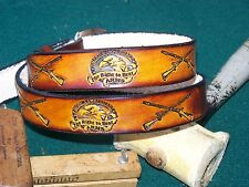 HANDMADE LEATHER BELT~RIGHT TO BEAR ARMS~ SIZES UP TO 44~PERSONALIZED FREE