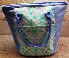Sea Tile Insulated Lunch Tote Cooler Bag optional embroidered monogram or name