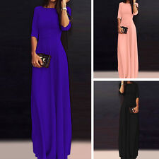 New Long Maxi Chiffon Sundress Bridesmaid Evening Party Cocktail Dress Prom Gown