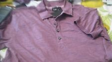NWT HUGO BOSS SHORT SLV RUGBY POLO SHIRT SOFT PIMA COTON PERU MADE $105 REG FIT