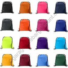 NEW String Drawstring Back Pack Cinch Sack Gym Tote Bag School Sport Shoe Bag