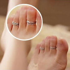 New Celebrity Tibetan Silver Retro Adjustable Toe Ring Antique Foot Jewelry