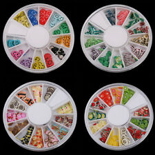 Fimo Acrylic Nail Art Decoration Tips 120PC Slice Manicure Wheel Decor Sticker