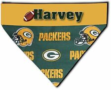 Over the Collar Dog Personalized NFL Green Bay Packers Bandana Bandanna