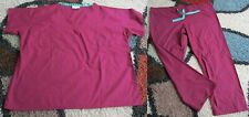 Best Medical Unisex Reversible Scrub Set Top & Pant Burgundy Sizes XL to 3X