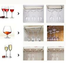 Hanging Upside Down  Goblets Rack Under Cabinet Stainless Steel W ine Glass