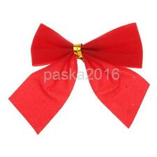12x Christmas Tree Decoration Xmas Hanging Ornament Bowknot for Hotel Decoration