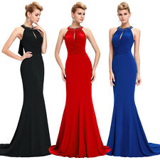 Sexy Backless Mermaid Formal Long Evening Gown Party Prom Cocktail Dress Pageant